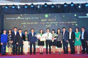 Vietcombank với Cuộc thi 'Đổi mới – sáng tạo để phát triển và hội nhập'
