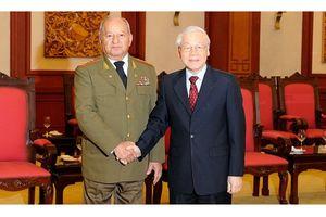 Tổng Bí thư, Chủ tịch nước Nguyễn Phú Trọng tiếp Bộ trưởng Cu-ba