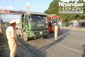 Lực lượng CSGT Thanh Hóa kiên quyết 'dẹp nạn' quá khổ quá tải