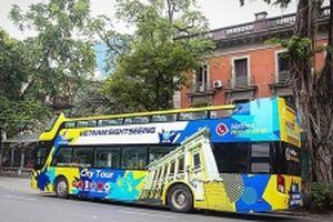 Cơ hội trải nghiệm xe bus hai tầng miễn phí tham quan Thủ đô
