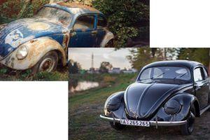 'Sắt vụn' Volkswagen Beetle sau 77 năm biến hình siêu đẹp