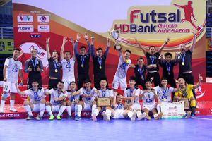 Thái Sơn Nam lập hat- trick danh hiệu futsal Cúp Quốc gia