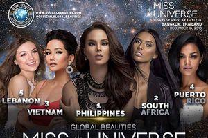 H'Hen Niê được Global Beauties dự đoán đoạt ngôi Á hậu 2 Miss Universe 2018