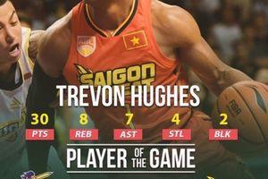 Trevon Hughes chơi bùng nổ, Saigon Heat tiếp đà thăng hoa