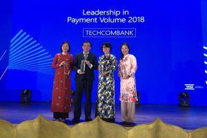 Techcombank dẫn đầu thị trường doanh số thanh toán thẻ Visa