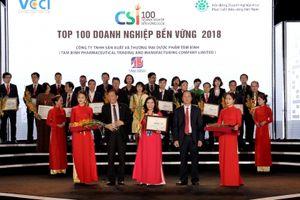 Dược phẩm Tâm Bình – Top 100 doanh nghiệp phát triển bền vững 2018