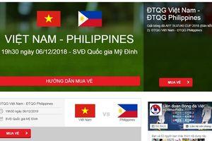 NÓNG: Vé online xem trận ĐT Việt Nam - ĐT Philippines vẫn còn