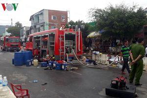 3 chiến sỹ bị thương, 6 xe bồn bị cháy trong vụ hỏa hoạn ở Khánh Hòa