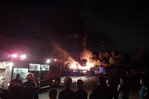 Cháy lớn tại khu công nghiệp Hòa Cầm