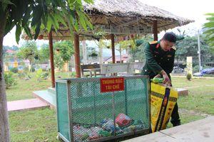 Sáng kiến 'thùng rác tái chế' ở Ban CHQS huyện Pác Nặm