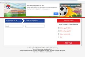 Trang web của VFF lại 'sập' trong ngày thứ 2 bán vé online!