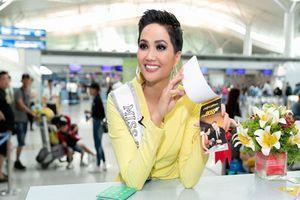 Hoa hậu H'hen Niê đầy tự tin khi lên đường tham dự Miss Universe 2018