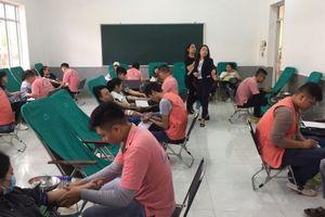 11 trường cao đẳng, trung cấp tham gia hiến máu tình nguyện tại Hải Phòng