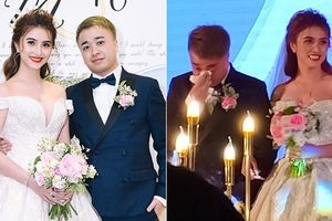 Chồng Việt kiều bật khóc trong lễ cưới lãng mạn với Việt My