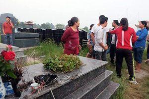 Hàng loạt bát hương trong nghĩa trang bị đập tan nát