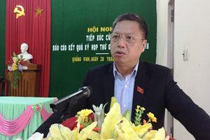 Đoàn đại biểu Quốc hội tỉnh Thừa Thiên Huế tiếp xúc cử tri