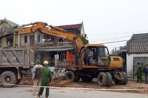 Nghi Lộc tổ chức bảo vệ thi công nâng cấp Quốc lộ 48E qua xã Nghi Trung