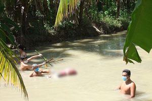 Điều tra vụ người phụ nữ tử vong dưới mương nước, bị trói 2 chân