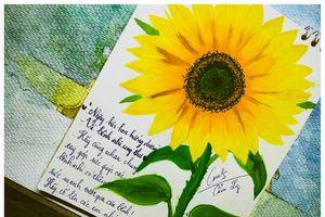 Chiến dịch 'Tôi đồng hành': Vẽ tranh hoặc làm hoa hướng dương để ủng hộ 30.000 đồng