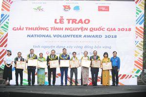 Trao Giải thưởng Tình nguyện quốc gia 2018