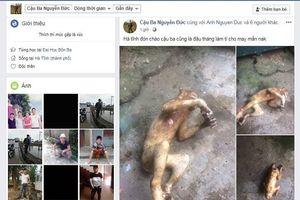 Thêm vụ giết khỉ khoe Facebook nghi ở Hà Tĩnh gây phẫn nộ