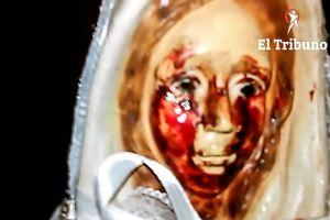 Tượng Đức mẹ Maria lại 'khóc ra máu' ở Argentina gây xôn xao