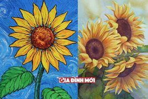 Những tranh vẽ, hình vẽ hoa hướng dương đẹp và có hồn nhất