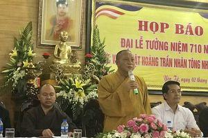 Nhiều hoạt động tưởng niệm 710 năm Phật hoàng Trần Nhân Tông nhập Niết bàn