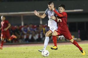 Highlights hiệp 1: ĐT Việt Nam bị Philippines gỡ hòa phút bù giờ