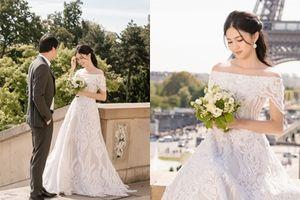 Ngắm bộ ảnh cưới đẹp như tên của Á hậu Thanh Tú và ông xã doanh nhân ở Paris