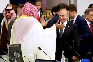 Tổng thống Putin 'đập tay' vui vẻ với Thái tử Ả rập Xê út