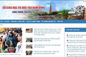 Sở GD&ĐT Nam Định xây dựng Cổng thông tin điện tử theo mô hình tập trung