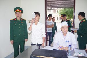 Bộ CHQS tỉnh kiểm tra công tác khám tuyển nghĩa vụ quân sự năm 2019