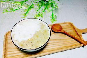 15 phút có bát chè cốm sữa dừa thơm ngon chào đầu tuần