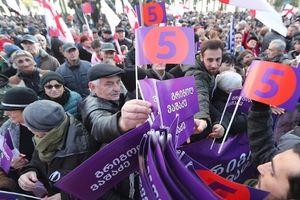 25.000 người Gruzia biểu tình phản đối kết quả bầu cử Tổng thống