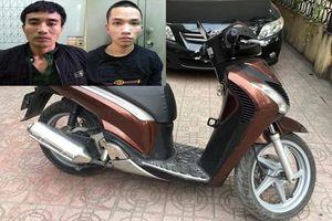 Bắt quả tang cặp đôi chuyên trộm cắp xe máy