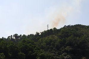 Cháy rừng tại phường Cửa Ông, TP Cẩm Phả