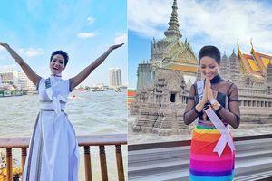 H'Hen Niê mặc váy lục sắc ủng hộ cộng đồng LGBT ở Miss Universe