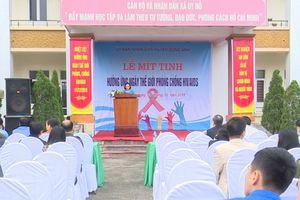 Huyện Đông Anh mít tinh hưởng ứng Ngày Thế giới phòng, chống HIV/AIDS năm 2018