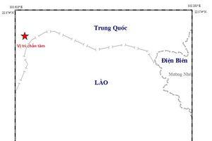 Động đất 3 độ richter cách ranh giới huyện Mường Nhé 50km