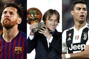 Số phiếu bầu cụ thể của top 10 Quả bóng Vàng 2018: Bất ngờ với Messi