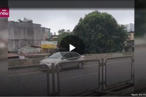 Hà Nội: Ô tô đi lùi trên đường vành đai 3