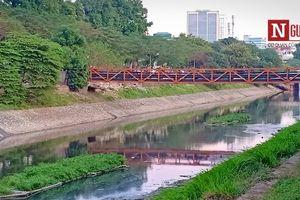Chùm ảnh: Cận cảnh dòng sông Tô Lịch 'sẽ' trở thành sông Thames