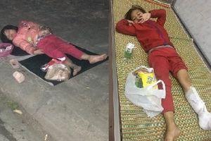Bé gái 5 tuổi lê la hè phố xin tiền ở Nam Định bị thương nặng phải nhập viện cấp cứu
