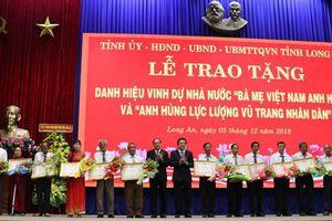 Long An phong tặng, truy tặng 101 danh hiệu Bà mẹ Việt Nam anh hùng
