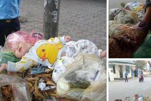 Hà Nội: Phát hiện bé trai kháu khỉnh bị 'vứt' trên xe rác
