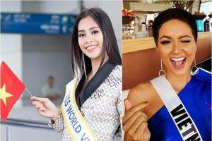 Tiểu Vy, H'Hen Niê chúc tuyển Việt Nam thắng Philippines ở lượt về
