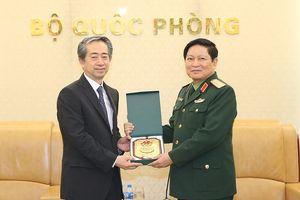 Đại tướng Ngô Xuân Lịch hội kiến Đại sứ Trung Quốc