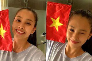 Từ Trung Quốc, Hoa hậu Tiểu Vy vỡ òa khi Việt Nam thắng Philippines
