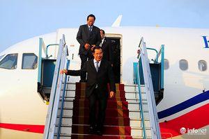 Thủ tướng Campuchia Hun Sen bắt đầu chuyến thăm chính thức Việt Nam